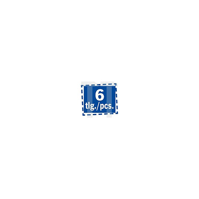 Projahn Offener Doppelringschlüssel-Satz metr isch 6-tlg. 2216
