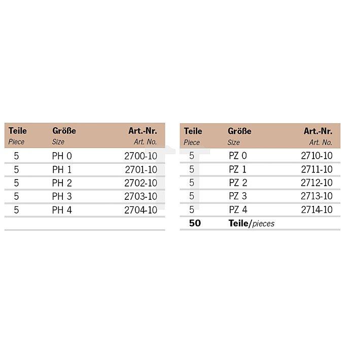 Projahn Rack Bit PH-PZ 45-tlg. 11812-21