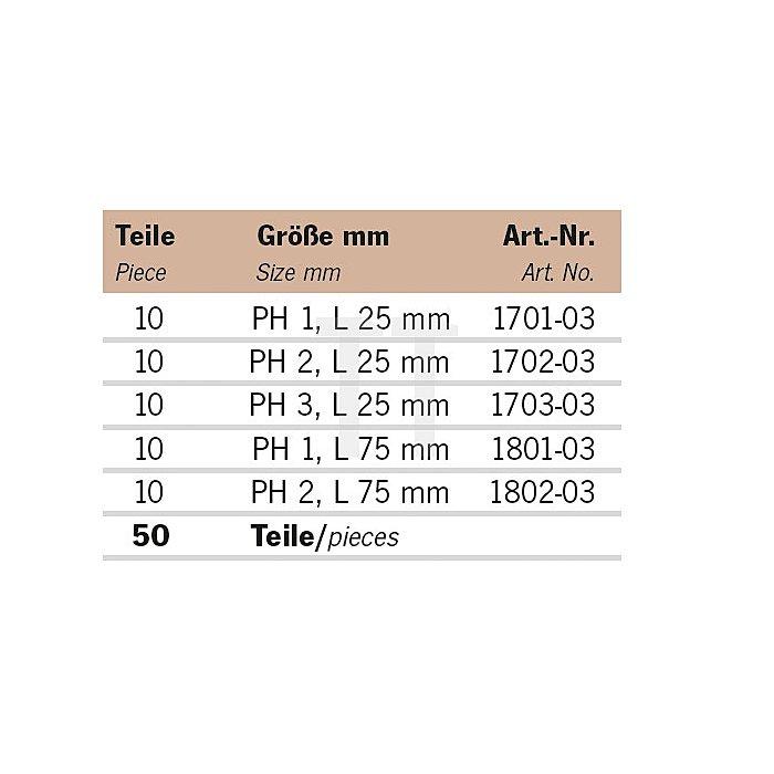 Projahn Rack Color Bit PH 11812-70