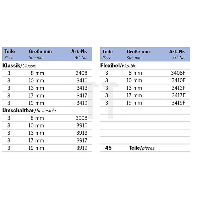 Projahn Rack GearTech Schlüssel Kombination45-tlg. 11812-53