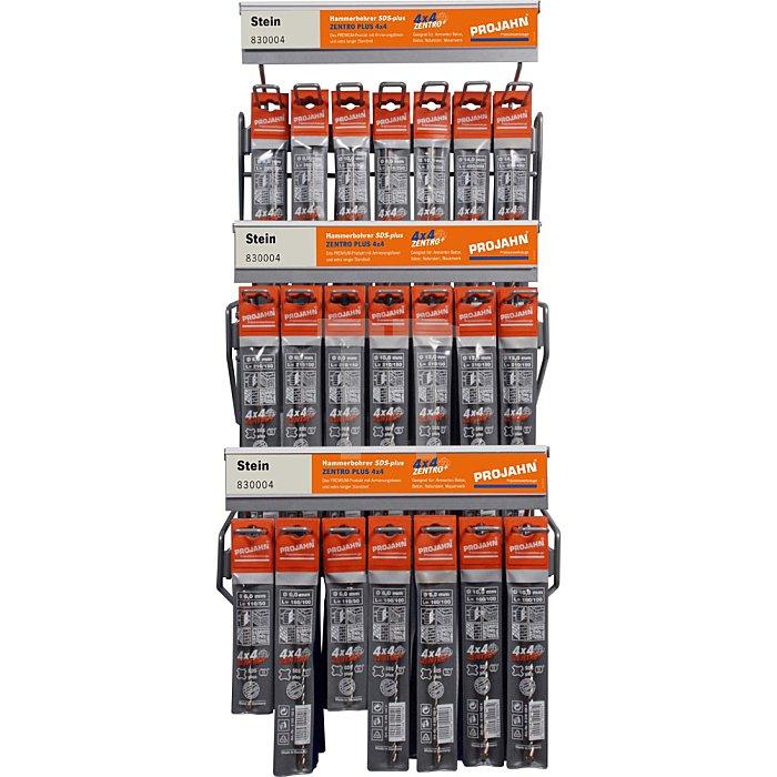 Projahn Rack Hammerbohrer SDS-plus 4 x 4 Zentro 93-tlg. 11612-100