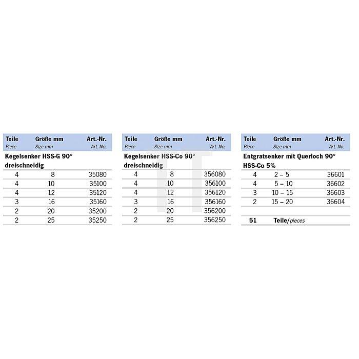Projahn Rack Metallbearbeitung 1 51-tlg. 11612-220