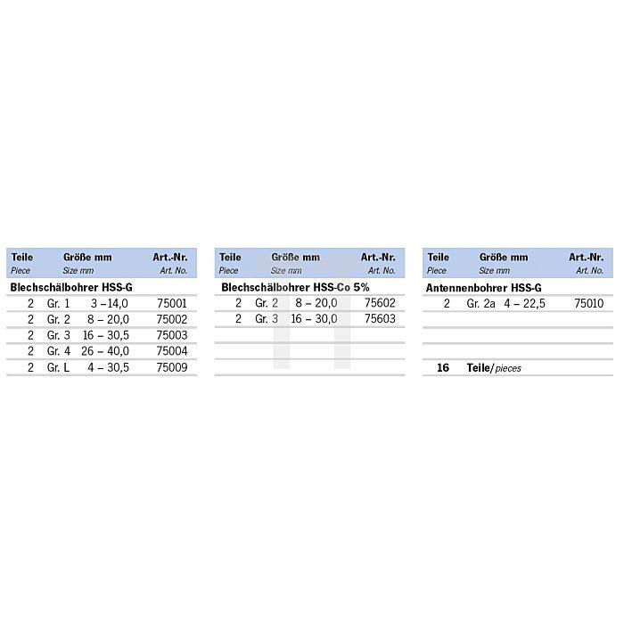 Projahn Rack Metallbearbeitung 3 16-tlg. 11612-222