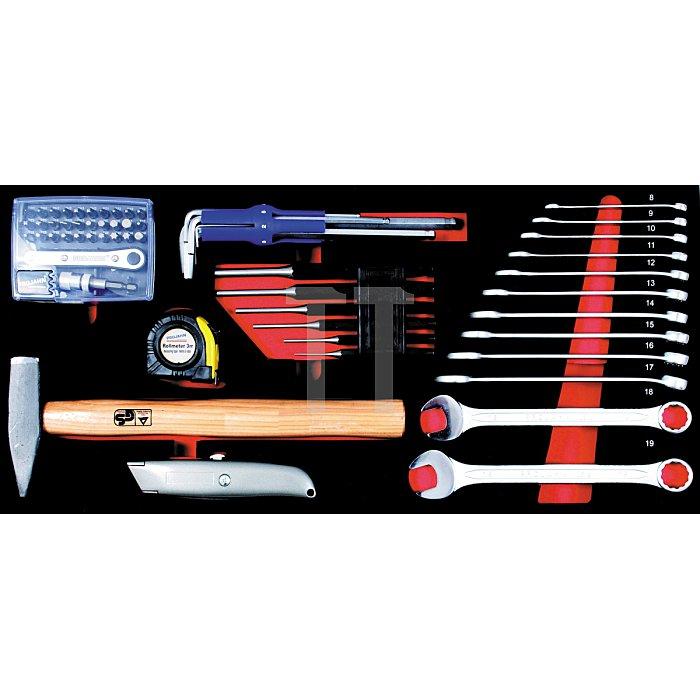 Projahn Schlüssel- & Werkzeug-Einlage 49-tlg. zu Werkzeugkoffer 5902 5999-231