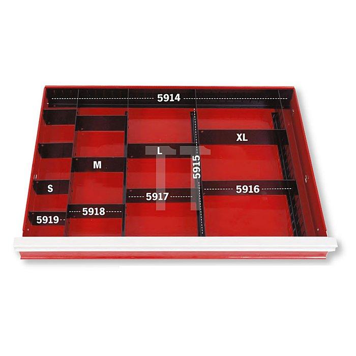 Projahn Schubladenunterteiler gerade/längs 392 x 60 x 14mm 5915