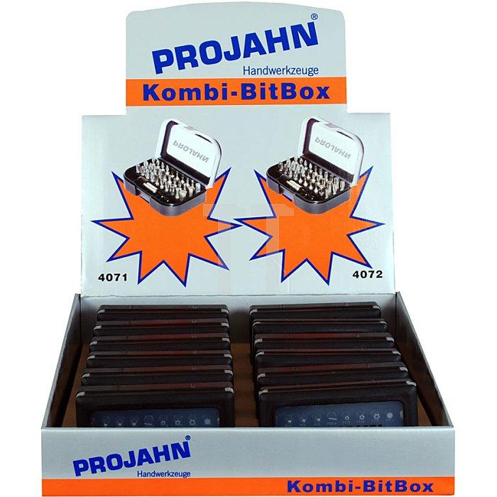Projahn Verkaufsdisplay 407212 12 x Bit-Box 31-tlg. 4072