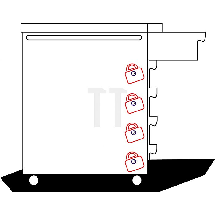 Projahn Werkstattwagen mit 7 Schubfächern 5901-20