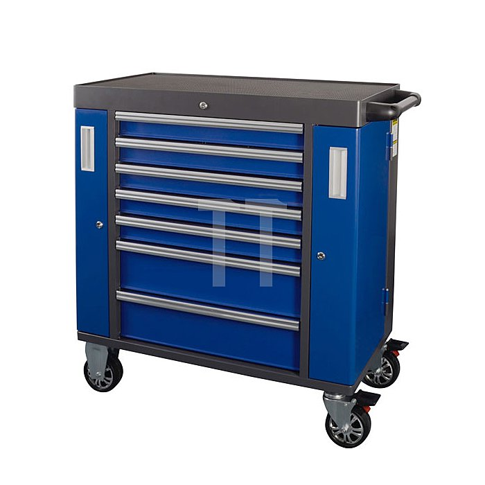Projahn Werkstattwagen Spaceline Blue mit 7 Schubfächern 7901-50