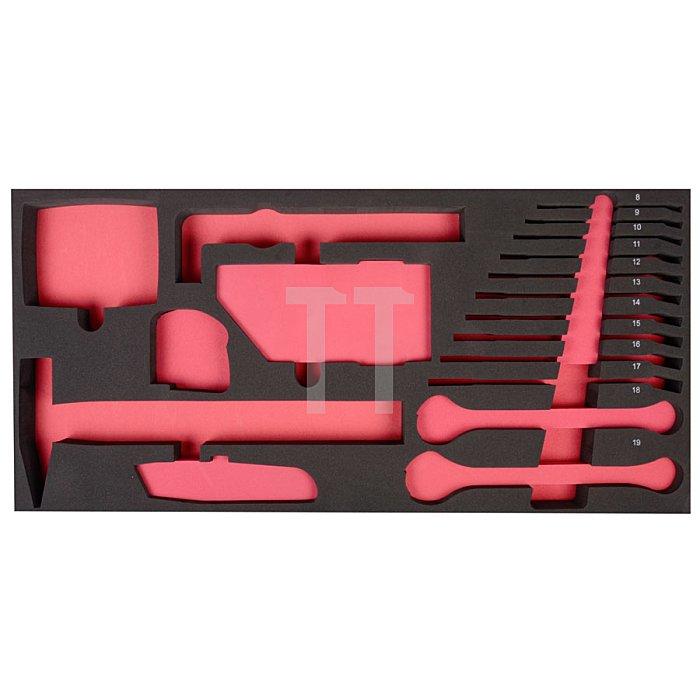 Projahn Werkzeugkoffer-Einlage zu 5902 leer für Schlüssel & andere Werkzeuge 5999-23E