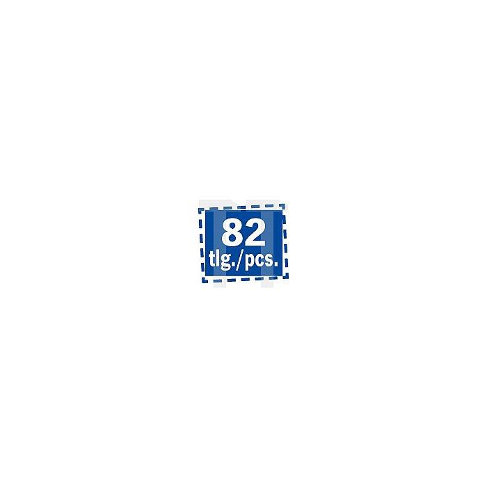 Projahn Werkzeugkofferl COMPACT TS mit 82 Werkzeugen Super Blue 5902-501