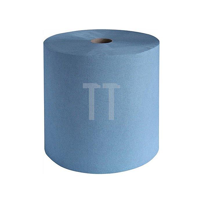 Putztuch 3lagig blau L.380xB360mm 1000Abrisse 1RL/VE