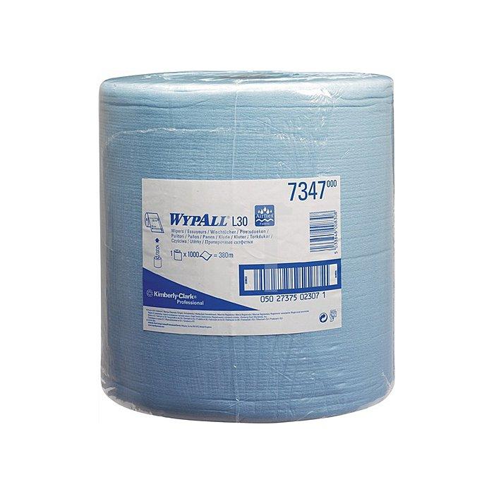 Putztuch Wypall L30 7347 blau 2lagig L.380xB.330mm perforiert 1000Abrisse