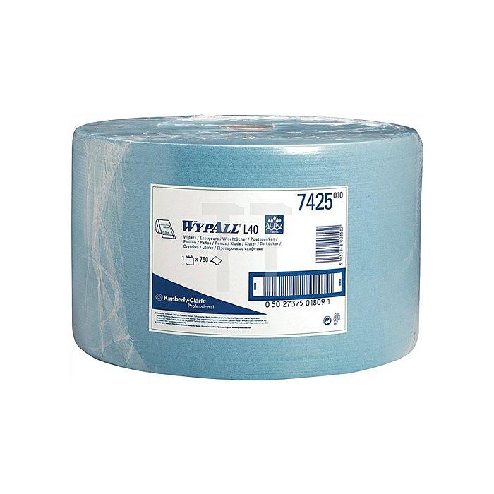 Putztuch Wypall L40-7425 blau 3lagig L.380xB.235mm 750Abrisse