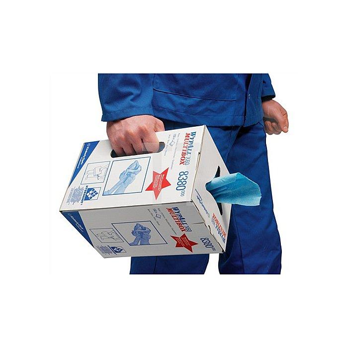 Putztuch Wypall X60-8380 L.245xB.420mm blau perforiert 150Blatt/Box
