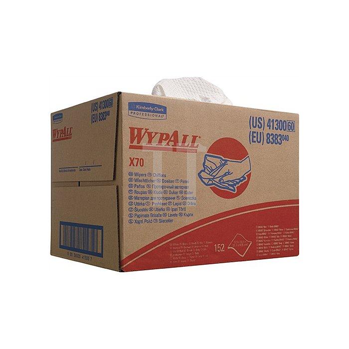 Putztuch Wypall X70-8383 L.427xB.318mm weiss geprägt 152Blatt
