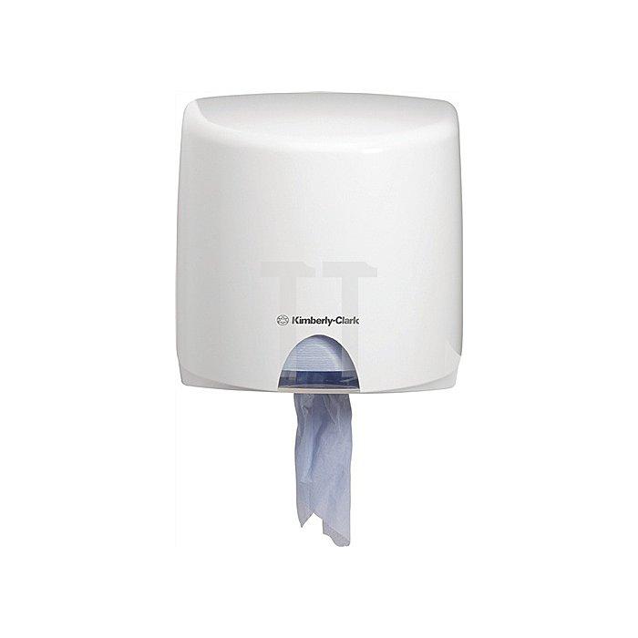 Putztuchspender Aquarius 7018 aus Kunststoff weiss Abm.278x276x226mm abschließbar