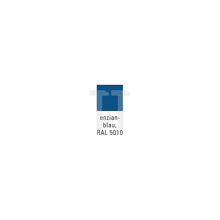Putzwollkasten grau/blau 680x400x400mm m.Pendeldeckel klappb.Griffe