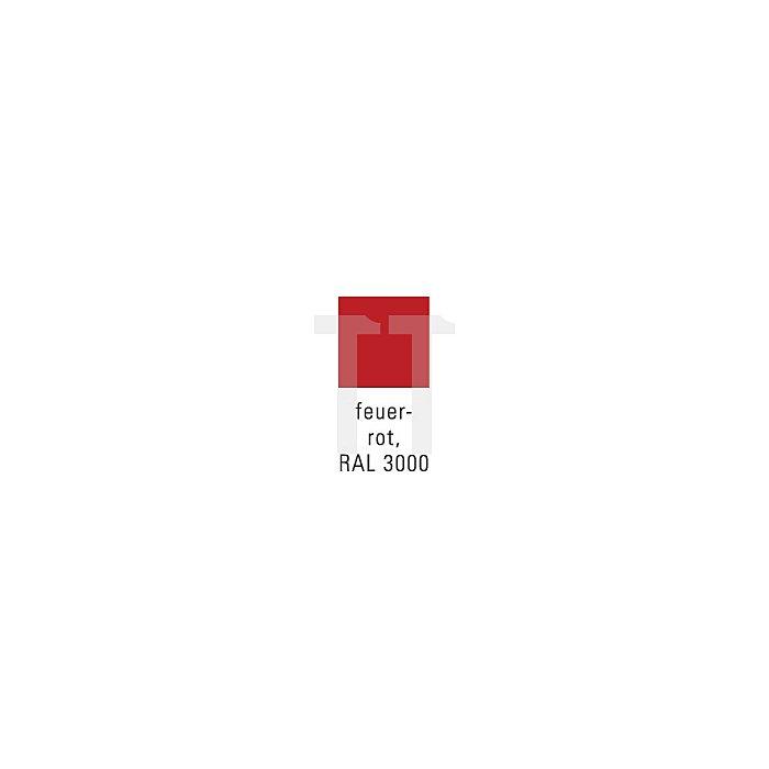 Putzwollkasten rot 680x400x400mm m.Pendeldeckel klappb.Griffe