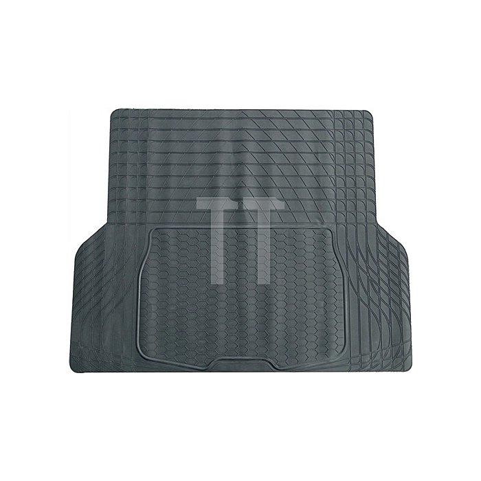 PVC-Kofferraummatte schwarz 108 x140cm zuschneidbar