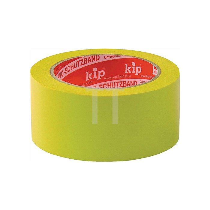 PVC-Scxhutzband KIP 315-15 L.33m B.50mm glatt-gelb