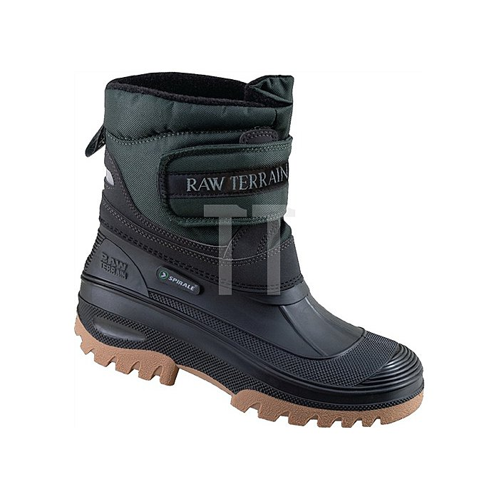 PVC-Winterstiefel Gr. 40 schwarz mit Klettverschluss und Webpelzfutter