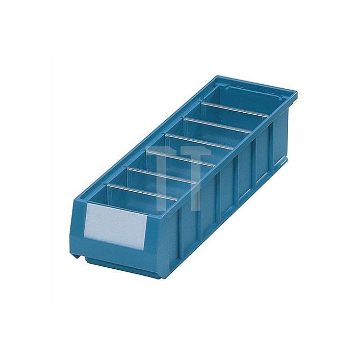 Querteiler glaskar 10St./VE gr.Etikettenfeld für Regalkastenmaß B234xH90mm