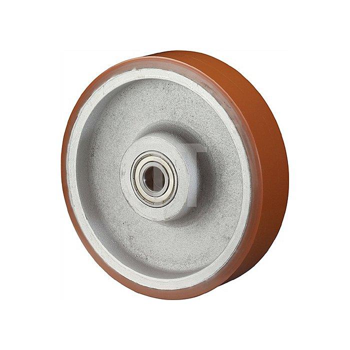 Rad C10.257 D.250mm Trgf.1600kg Naben-L.82mm Rad Alu./Guss-PUR 95 Shore A
