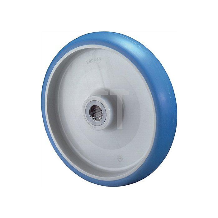 Rad Durchmesser 125mm Tragfähigkeit 180kg Polyurethanrad Nabenlänge 44mm