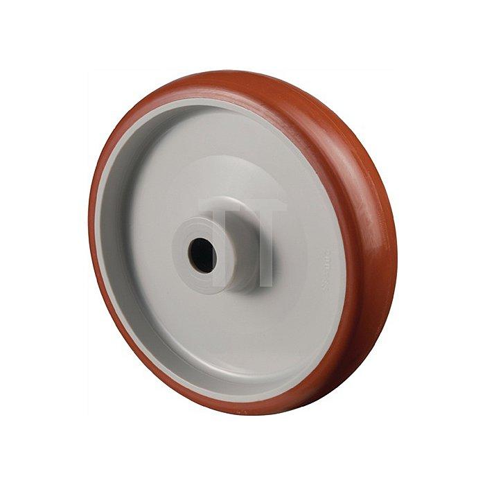 Rad zu A30 Durchmesser 125mm Tragfähigkeit 180kg Polyurethanrad Nabenlänge 44mm