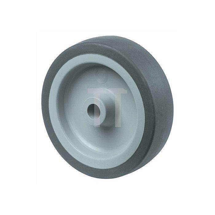 Rad zu A80 Durchmesser 100mm Bohrung 9mm Vollgummirad blaugrau