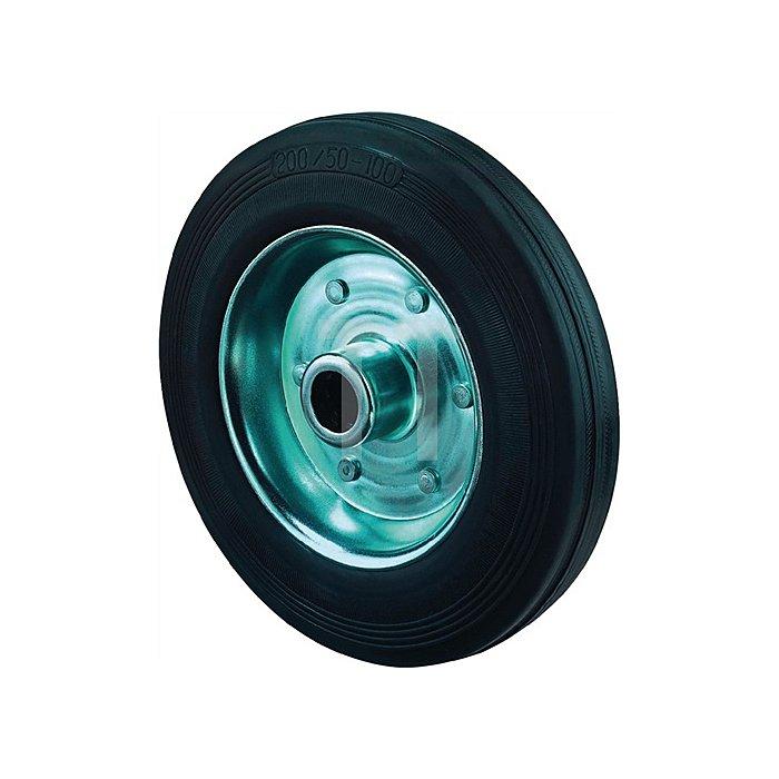 Rad zu B55 Durchmesser 200mm Tragkraft 205kg Vollgummireifen schwarz Breite 50mm