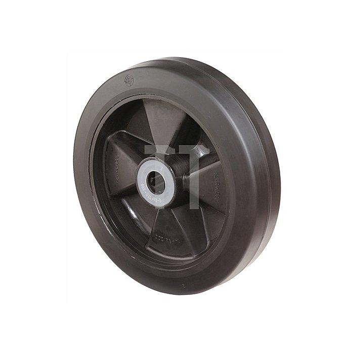 Rad zu B60 D. 150mm Trgf. 250kg Elastic-Vollgummireifen B. 50mm
