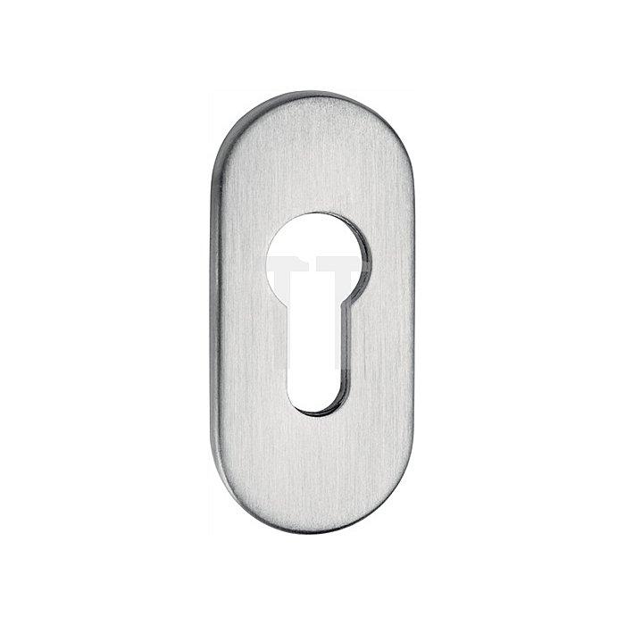 Rahmen-Cliprosette 813/6 6mm PZ Lochung oval Alu F1 natur