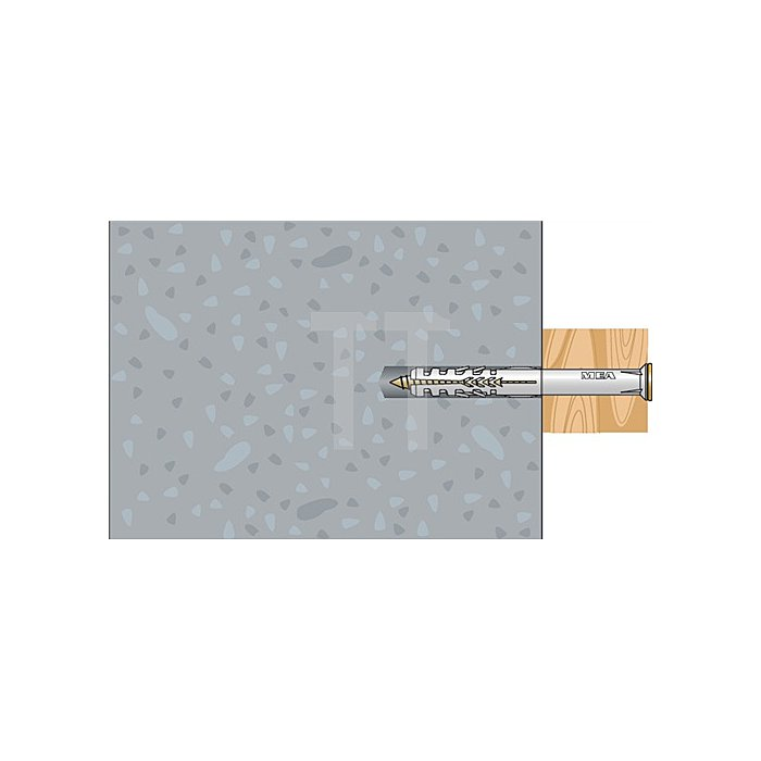 Rahmendübel R 10-100 SSP mit Senkkopfschr. PZ galv. gelb verz. DIBt Zulassung