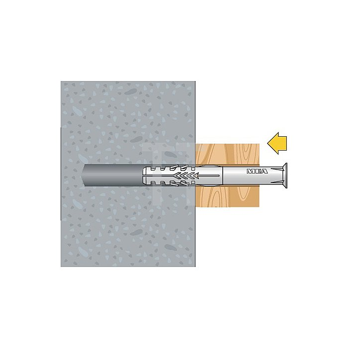 Rahmendübel R 10-115 Toss Senkkopf Torx Schraube gelb verzinkt apolo MEA