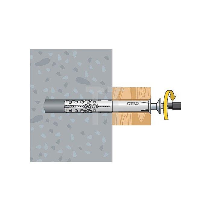 Rahmendübel R 10-160 SSK Sechskantschraube gelb verzinkt apolo MEA