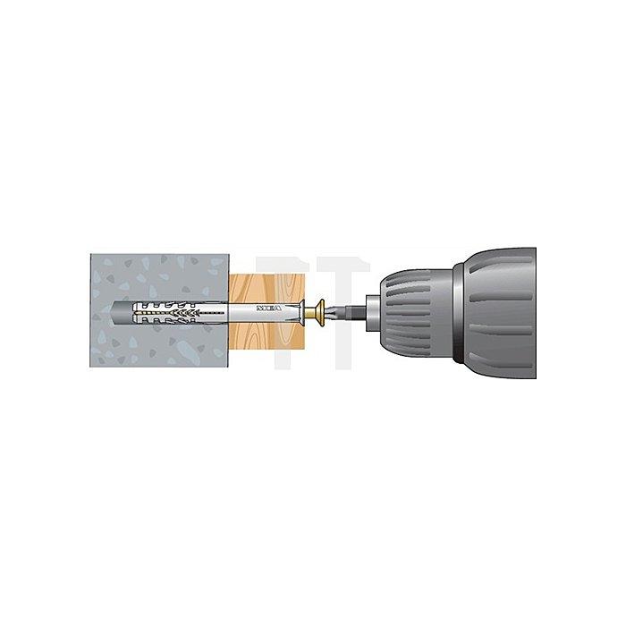 Rahmendübel R 10-200 Senkbunddübel für Vollbaustoffe (Beton und MW)
