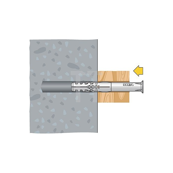 Rahmendübel R 10-60 SSK Sechskantschraube gelb verzinkt apolo MEA
