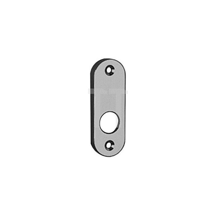 Rahmentür-Drückerrosette 347 massiv asymetrisch oval 10mm Alu F1 natur