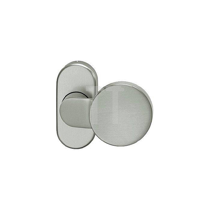 Rahmentürknopf 0809 VK 8mm VA feinmatt 6204 ovale Rosette