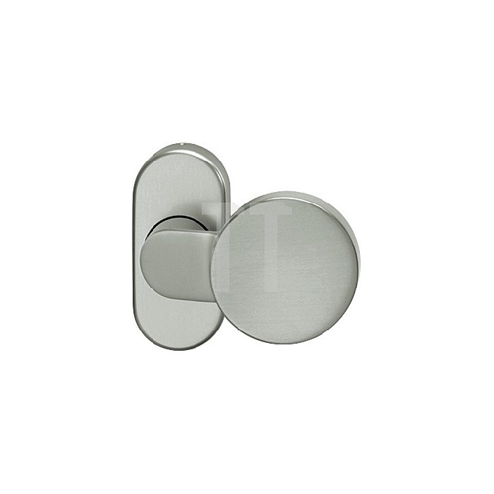 Rahmentürknopf 0809 VK 9mm VA feinmatt 6204 ovale Rosette