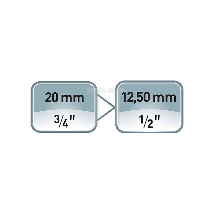 Reduzierstück 3/4Zoll 4KT Ges.-L.58mm ASW 1/2Zoll Abtrieb
