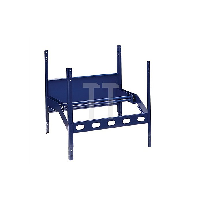 Regalelement Abrollgerät mit 2 Achsen LOGS 110 H520xB540xT390mm Blau RAL 5022