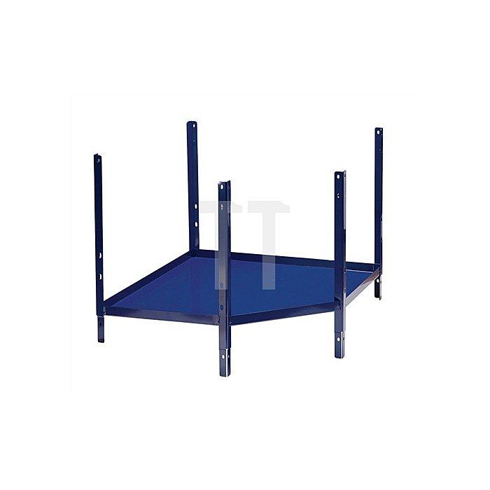 Regalelement Eckfachbodenteil LOGS 231 H520xB540xT390mm Blau RAL 5022