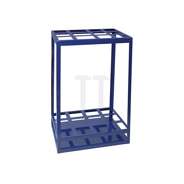 Regalelement Gewindestangenteil Stand LOGS 70 H650xB540xT390mm Blau RAL 5022