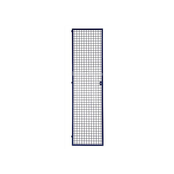 Regalelement Gittertür LOGS 240 H1970xB540mm Blau RAL 5022 abschließbar
