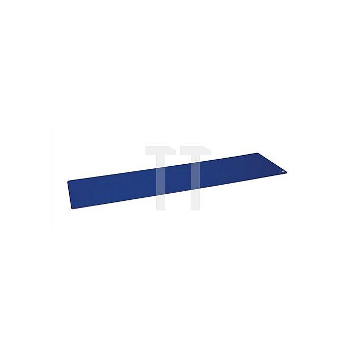 Regalelement Trennblech zu Logs 190 LOGS 210 B200xT430mm Blau RAL 5022