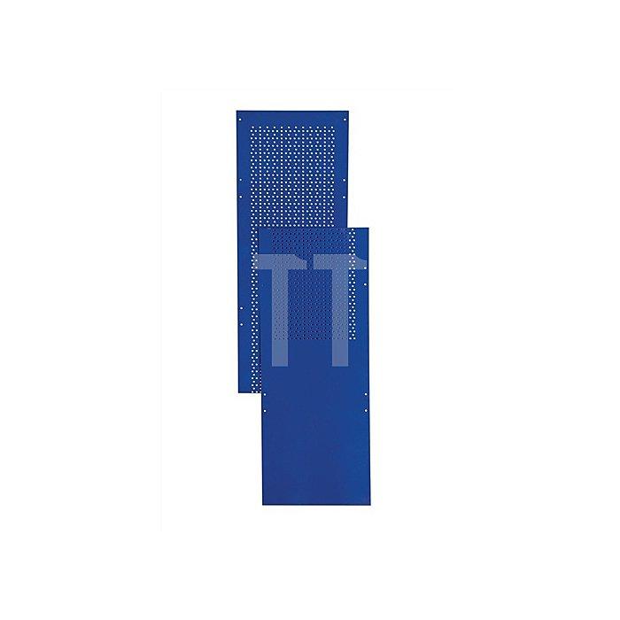 Regalmodul Lochblechseitenwand LOGS 80 H2000xB390mm Blau RAL 5022