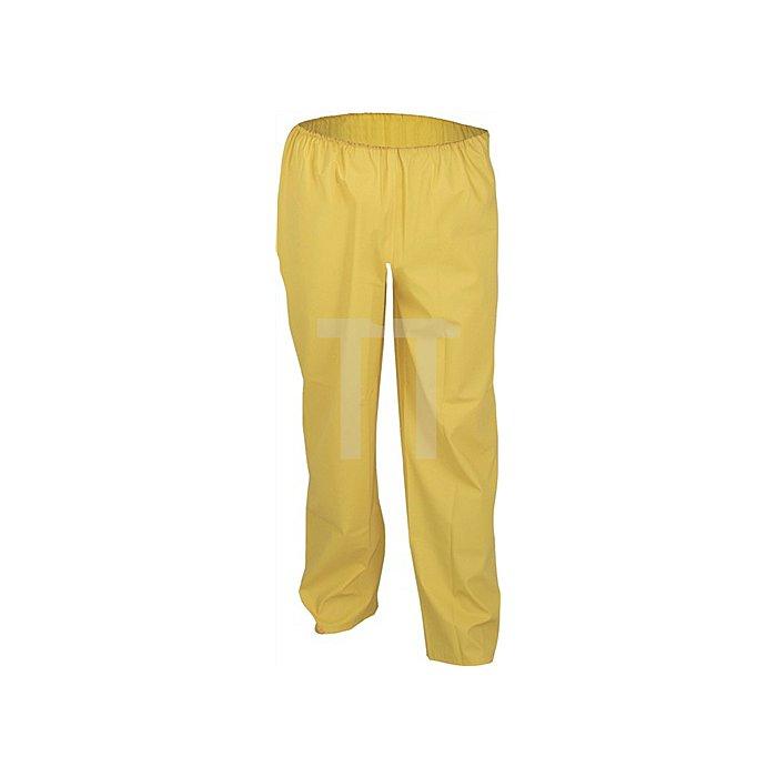 Regenbundhose Gr.M gelb PU-Stretch Reißverschl. EN343 Kl.2 reißfest