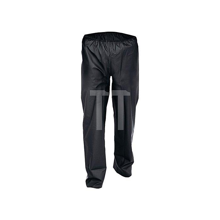 Regenbundhose Gr.XXL schwarz PU-Stretch EN343 Kl.2 reißfest